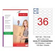 Tanex Tw-2148 Sevkiyat ve Lojistik Etiketi 40,6x25,4 mm