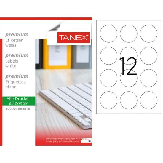 Tanex TW- 2160  Laser Etiket 100 Lü Paket
