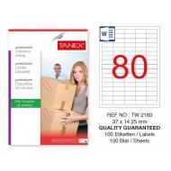 Tanex Tw-2180 Sevkiyat ve Lojistik Etiketi 37x14,25 mm