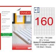 Tanex TW-2280 Laser Etiket  22 x 12 mm