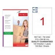 Tanex Tw-2294 Sevkiyat ve Lojistik Etiketi 210x294,86 mm