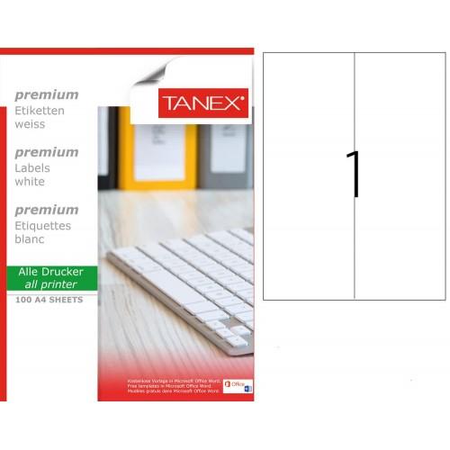 Tanex TW-2297 210x297mm Laser Etiket 100 Lü