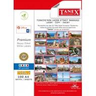 Tanex TW-2308 95.5x65.5mm Kuşe Lazer Etiket 100 Lü Paket
