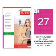 Tanex TW-2327 70x30mm Pembe Pastel Laser Etiket 100 Lü