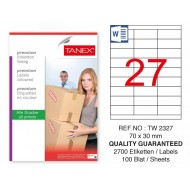 Tanex Tw-2327 Sevkiyat ve Lojistik Etiket 70x30 mm
