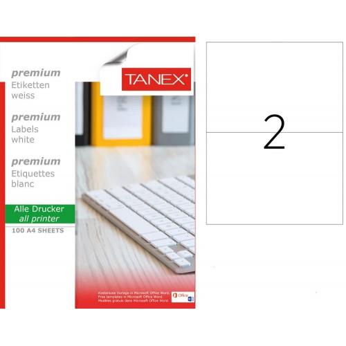Tanex TW-2402 Laser Etiket 100 Lü Paket