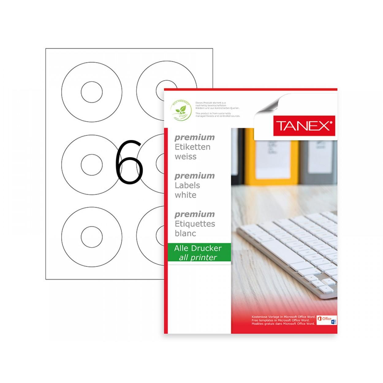 Tanex TW-2506 79x20mm Kuşe Lazer Etiket 100 Lü Paket