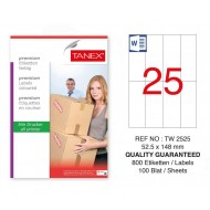Tanex Tw-2525 Sevkiyat ve Lojistik Etiket 52,5x148,5 mm