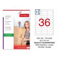 Tanex Tw-2536 Sevkiyat ve Lojistik Etiket 63x24 mm