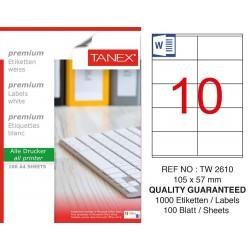 Tanex TW- 2610 Laser Etiket 100 Lü Paket