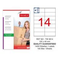 Tanex Tw-2614 Sevkiyat ve Lojistik Etiket 105x40 mm