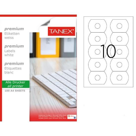 Tanex TW-3177 78x54,5 mm Laser Etiket