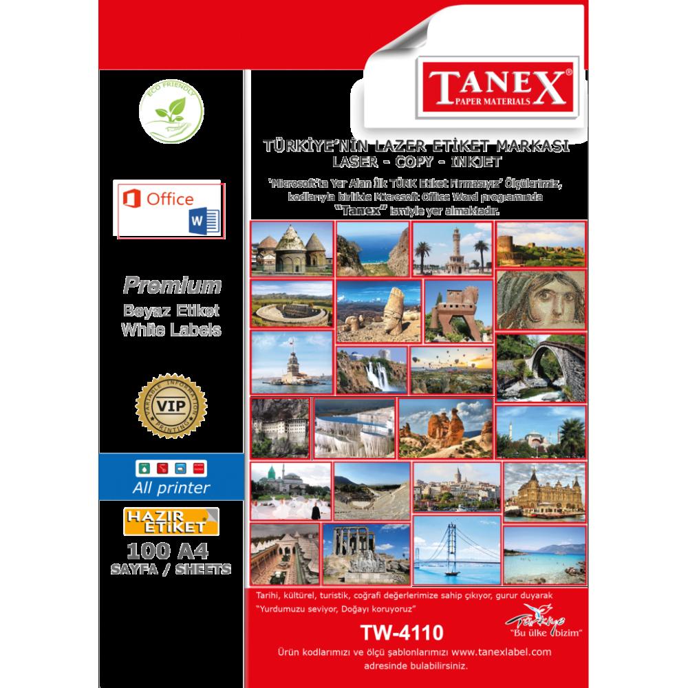 Tanex TW-4110 40x12 mm Laser Etiket