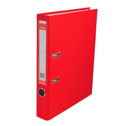 Velte Plastik Klasör Dar Kırmızı Renk 30 Lu Koli