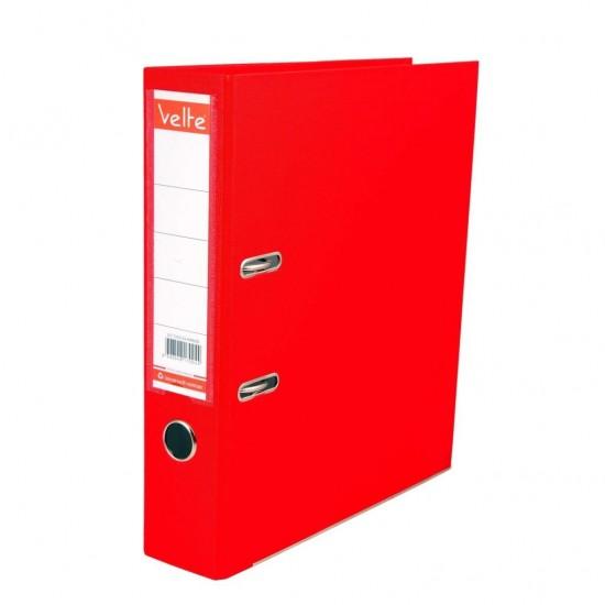 Velte Plastik Klasör Geniş Kırmızı Renk 25 Li Koli