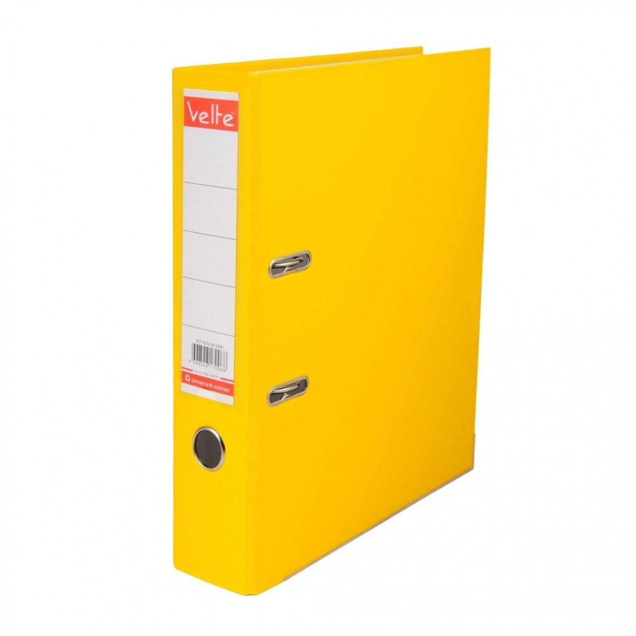 Velte Plastik Klasör Geniş Sarı Renk