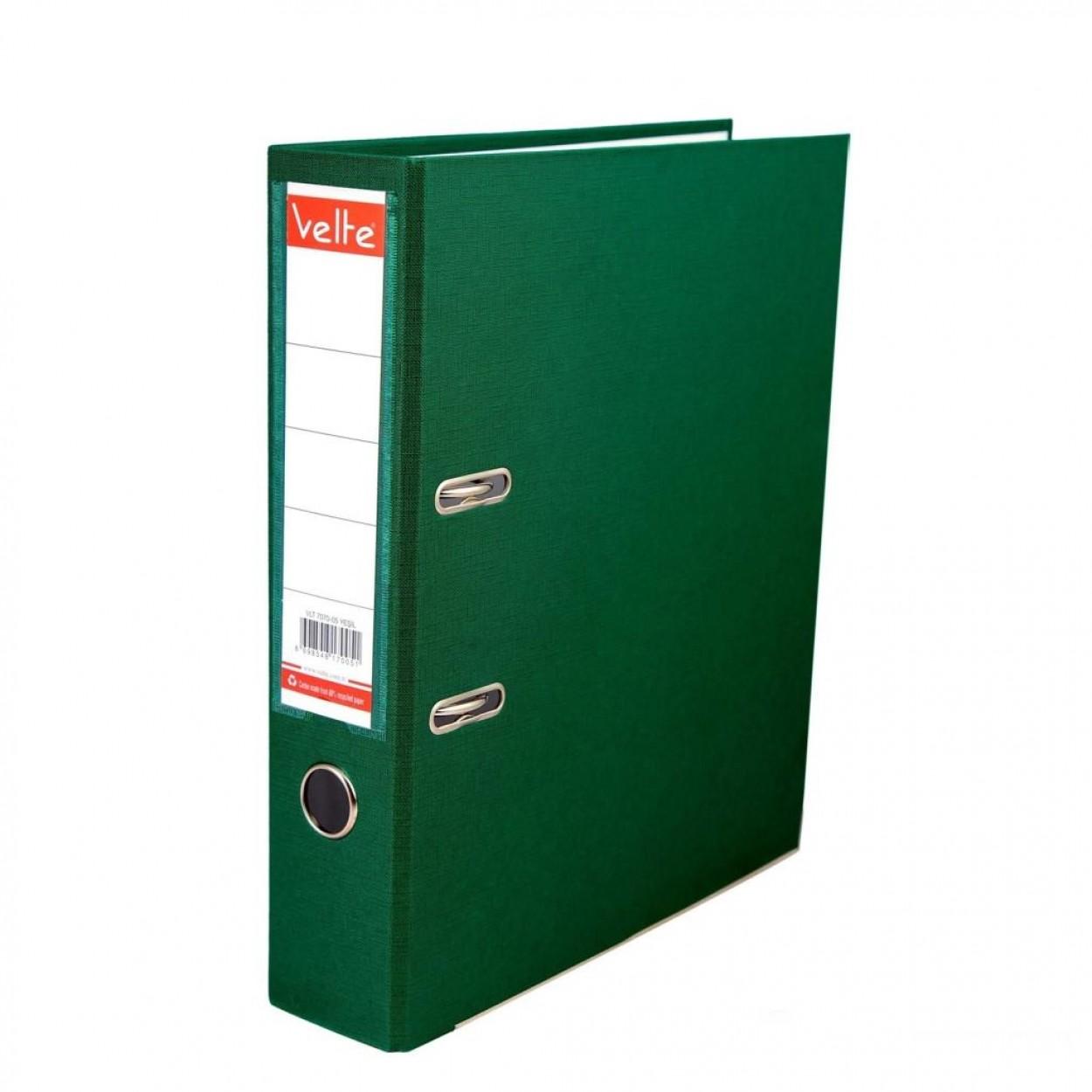 Velte Plastik Klasör Geniş Yeşil Renk
