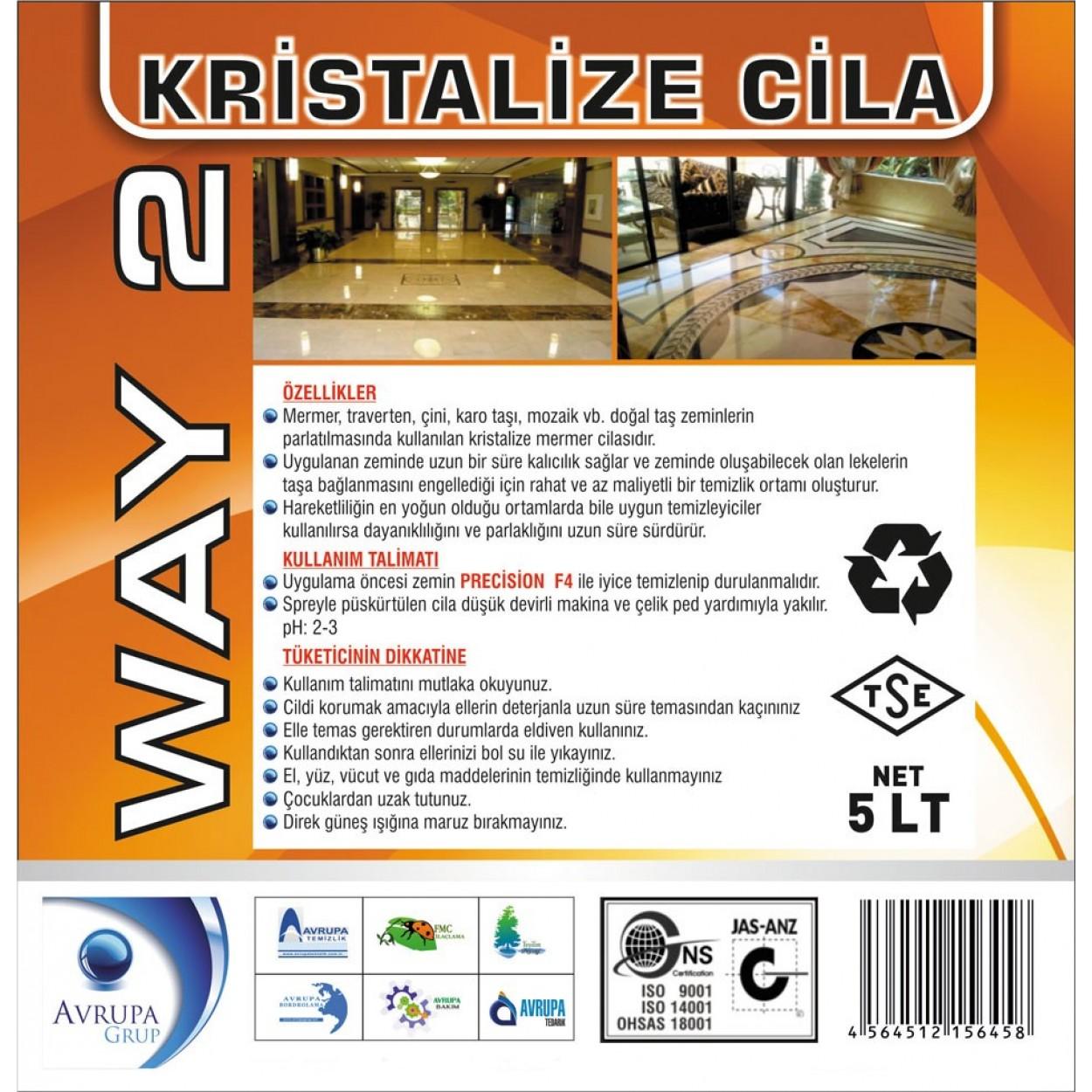 WAY 2 Sıvı Kristalizasyon Cilası 5 Litre