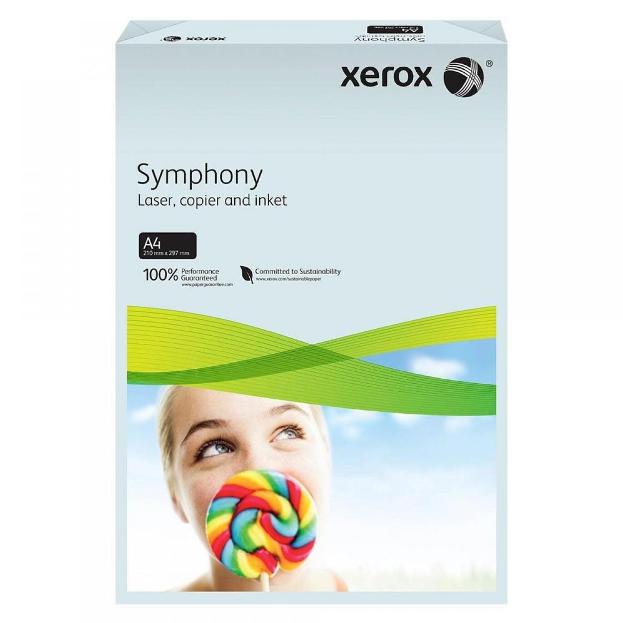 Xerox Symphony Renkli A4 Fotokopi Kağıdı 80 gr 500'lü Açık Mavi