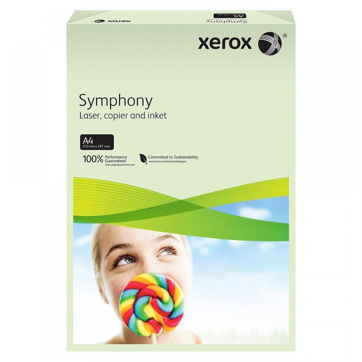 Xerox Symphony Renkli A4 Fotokopi Kağıdı 80 gr 500'lü Açık Yeşil
