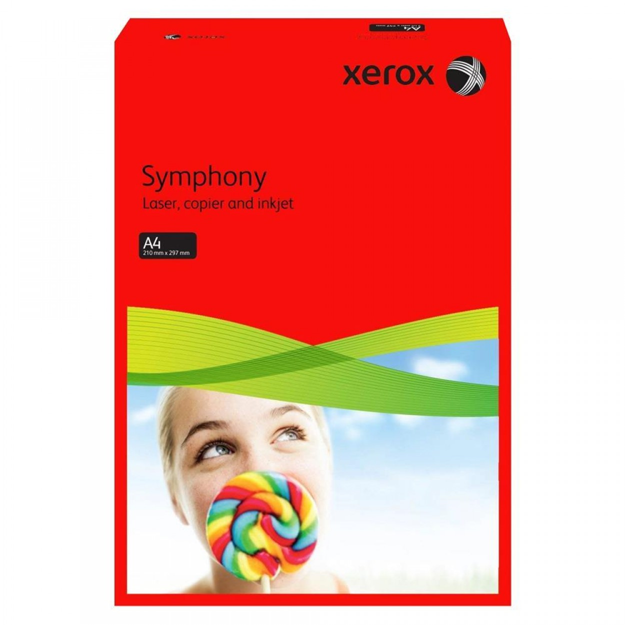 Xerox Symphony Renkli A4 Fotokopi Kağıdı 80 gr 500'lü Kırmızı